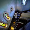 KRISTOPHER RADDER — BRATTLEBORO REFORMER<br /> Jamie Mohr walks down a staircase inside the First Baptist Church, in Brattleboro.