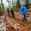 KRISTOPHER RADDER — BRATTLEBORO REFORMER<br /> Over 130 people participated in a two-mile walk at Pisgah State Park, in Winchester, N.H., as part of New Hampshire's First Day Hike on Jan. 1, 2019.