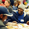 Turkey_4.jpg John Newell enjoys some good food and converstation at Boulder's First Presbyterian Church's annual Thanksgiving Dinner held on November 22, 2012. The church opens it's doors to the homeless, eldery, shut-ins and anyone in need. They expected to serve between 300-350 people.  (Kira Horvath/Daily Camera)