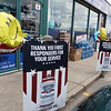 Harry's Food Mart Mobil gas station on Middlesex Street in Lowell, provides free gas and energy drinks on Good Friday to health care workers and first responders. (SUN/Julia Malakie)
