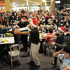 "BE1216flash13<br /> Dancers from Artistic Fusion Dance Academy and  Break EFX  formed a flash mob of over 200 people dancing to Mariah Carey's song ""All I want for Christmas is you"" surrounding shoppers in the food court of FlatIron Crossing mall on Thursday. <br /> December  9, 2010<br /> staff photo/David R. Jennings"