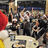 "BE1216flash012<br /> Dancers from Artistic Fusion Dance Academy and  Break EFX  formed a flash mob of over 200 people dancing to Mariah Carey's song ""All I want for Christmas is you"" surrounding shoppers in the food court of FlatIron Crossing mall on Thursday. <br /> December  9, 2010<br /> staff photo/David R. Jennings"