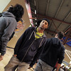 "BE1216flash07<br /> Break EFX Herb Neil quietly walks amost shoppers before leading a flash mob of over 200 people dancing to Mariah Carey's song ""All I want for Christmas is you"" in the food court of FlatIron Crossing mall on Thursday. <br /> December  9, 2010<br /> staff photo/David R. Jennings"