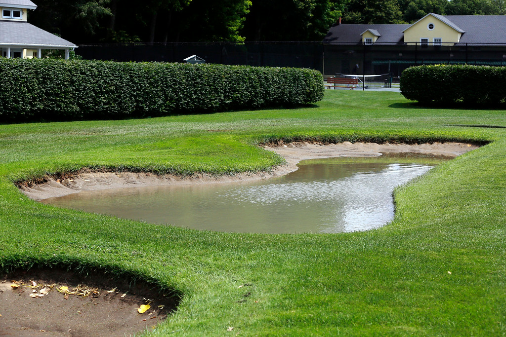. Much of the course is under water due to the recent heavy rains in the area at the Stockbridge Golf Club. Tuesday, July 29, 2014. Stephanie Zollshan / Berkshire Eagle Staff / photos.berkshireeagle.com