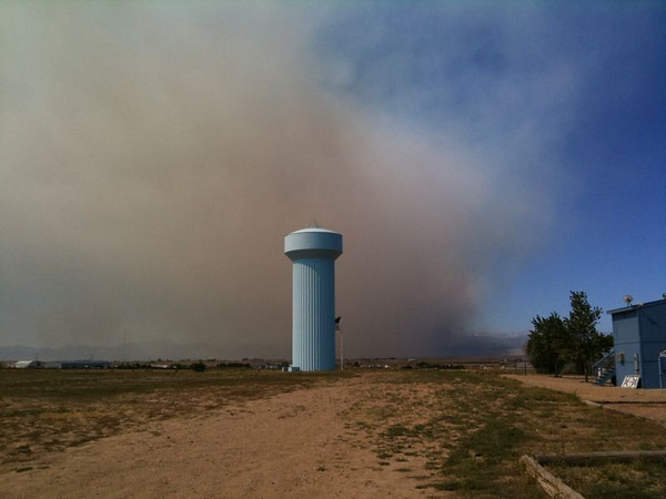 User submitted photo from iPhone app.<br /> Matt Flood<br /> View of fire from Dacono.
