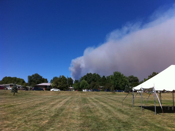 Use submitted photo from iPhone app.<br /> Joel<br /> View of fire from Louisville
