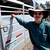 "Mike Walker stands by his horse trailer as he takes a break from a busy day in August.<br /> Mike and Lynn Walker of Colorado Mountain Ranch lost their home and other buildings in the Four Mile Canyon Fire.<br /> For a video and photos of Colorado Mountain Ranch, go to  <a href=""http://www.dailycamer.com"">http://www.dailycamer.com</a>.<br /> Cliff Grassmick / August 26, 2011"