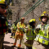 "Boulder Emergency Squad members work together to rescue an injured hiker on Poorman Road duriing a Fourmile flood training exercise on Saturday, April 16, in Boulder.<br /> For more photos and video go to  <a href=""http://www.dailycamera.com"">http://www.dailycamera.com</a><br /> Jeremy Papasso/ Camera"