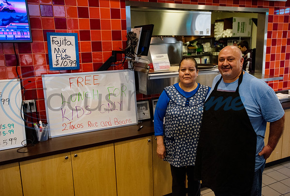 Amalea and Oscar Padilla of Yolis Mexican Cuisine in Whitehouse, Texas provided free lunch and also dinner to Whitehouse ISD students.
