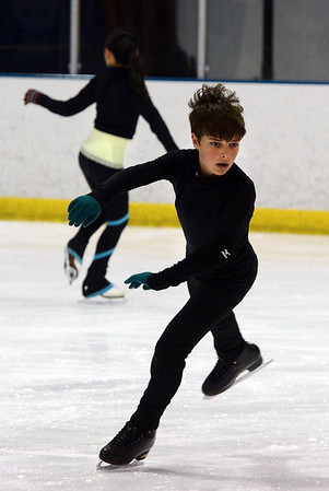 """Sam Ghooshyan, 10, practices at the Boulder Valley Ice Rink in Superior on Friday.<br /> For more photos and a video, go to  <a href=""""http://www.dailycamera.com"""">http://www.dailycamera.com</a>.<br /> Cliff Grassmick / June 8, 2012"""