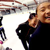 "Alisha Wu, left, Amanda Li, and Cynthia Lin, have some fun at the Boulder Valley Ice Rink in Superior on Friday.<br /> For more photos and a video, go to  <a href=""http://www.dailycamera.com"">http://www.dailycamera.com</a>.<br /> Cliff Grassmick / June 8, 2012"