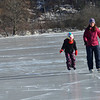 KRISTOPHER RADDER - BRATTLEBORO REFORMER<br /> Sarah Grant and her 7-year-old daughter skate along at the Retreat Meadows.