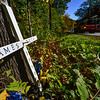 Kristopher RADDER — BRATTLEBORO REFORMER<br /> Two memorials just about a mile from each other remembering people that have died on Route 9, in Marlboro, Vt.