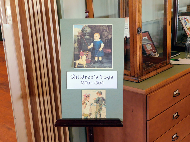 BOB FINNAN / GAZETTE Weymouth School in Medina Township includes displays of toys from 1800-1900.