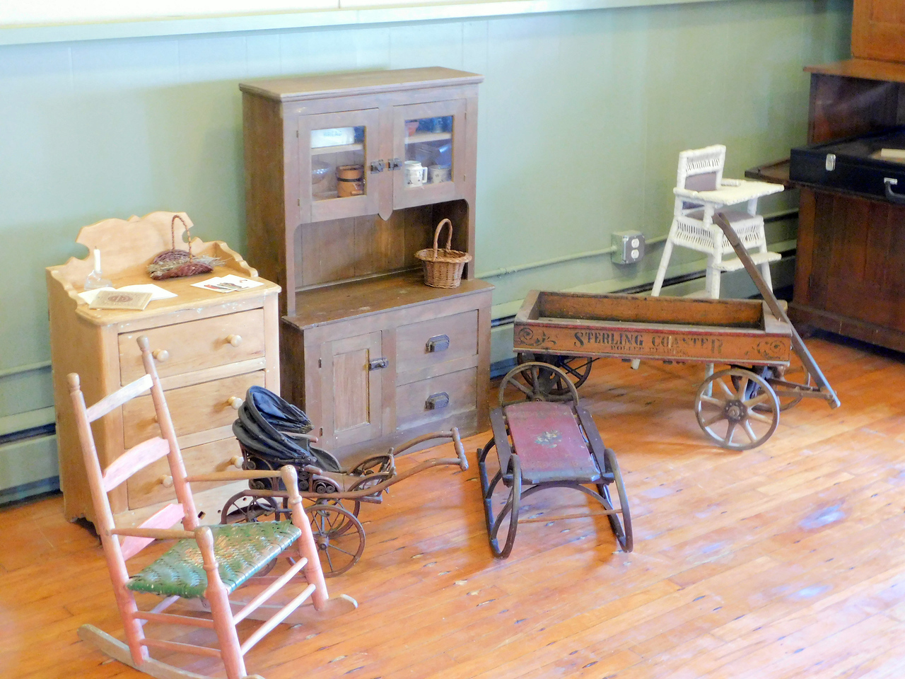 BOB FINNAN / GAZETTE Children's toys from 1800-1900 are on display at Weymouth School in Medina Township.