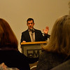 KRISTOPHER RADDER — BRATTLEBORO REFORMER<br /> Danny Lichtenfeld, director of the Brattleboro Museum & Art Center, gives details about the new housing and gallery space project during an announcement ceremony on Tuesday, Nov. 19, 2019.
