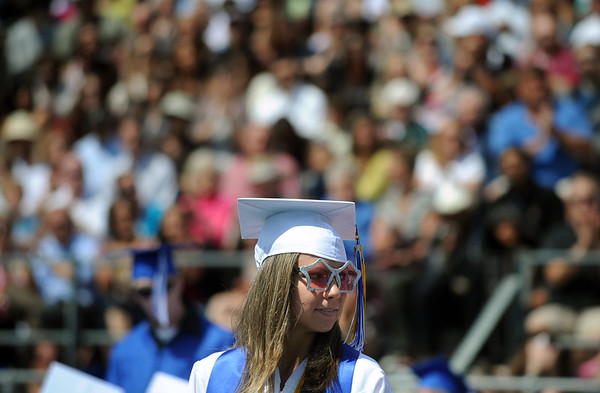 20110528_LHS_GRAD_3.jpg Graduate Hannah Schwartz stands as she is recognized during commencement for joining the Air Force Academy Saturday May 28, 2011 at Longmont High School. (Lewis Geyer/Times-Call)