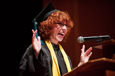 N0529NEWVISTA7.jpg N0529NEWVISTA3 Josie Brown has a laugh with the audience about how her cap kept falling off while delivering her speech during the New Vista High School graduation ceremony held at Chautauqua auditorium on Saturday May 28th, 2011.  Photo by: Jonathan Castner
