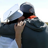 20110528_ERIE_GRAD_5.jpg Two people share a hug during commencement Saturday May 28, 2011 at Erie High School. (Kimberli Turner/Times-Call)
