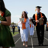 20110528_ERIE_GRAD_1.jpg Covaledictorians Bridget Sutton and Christopher Apple walk into their commencement Saturday May 28, 2011 at Erie High School. (Kimberli Turner/Times-Call)