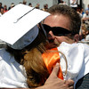 20110528_ERIE_GRAD_10.jpg William Callaway hugs his daughter Karli during commencement Saturday May 28, 2011 at Erie High School. (Kimberli Turner/Times-Call)