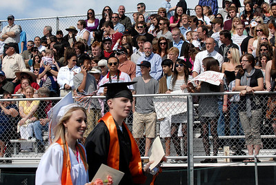 20110528_ERIE_GRAD_3.jpg Graduates walk into commencement in front of a large crowd Saturday May 28, 2011 at Erie High School. (Kimberli Turner/Times-Call)