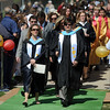 20110528_SHS_GRAD_2.jpg Assistant principal Heidi Ringer, left, and principal Patricia Quinones lead the procession of faculty and students onto the field for commencement Saturday May 28, 2011 at Skyline High School. (Lewis Geyer/Times-Call)