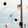 20110528_ERIE_GRAD_9.jpg Caps are tossed at the conclusion of commencement Saturday May 28, 2011 at Erie High School. (Kimberli Turner/Times-Call)