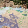 GRAFFITI AT MOUNT SANITAS HOSPITAL