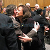 Gov. Susana Martinez and the first gentleman,Chuck Franco, are greeted during the opening day of the 52nd New Mexico State Legislative session on Tuesday, January 20, 2015.  jane Phillips/The New Mexican