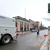 Unitil works on a gas leak on Main St. in Fitchburg on Monday. Traffic was rerouted down Wallace Ave.<br /> SENTINEL & ENTERPRISE / BRETT CRAWFORD