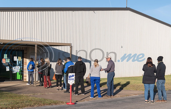 People line up to vote at Bullard Southern Baptist Church on Tuesday, Nov. 3, 2020. Smith County citizens could vote at any of the 35 Smith County polling locations on Election Day.