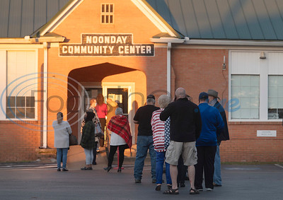 People gather before doors open at 7 a.m. to vote at the Noonday Community Center on Tuesday, Nov. 3, 2020. Smith County citizens could vote at any of the 35 Smith County polling locations on Election Day.