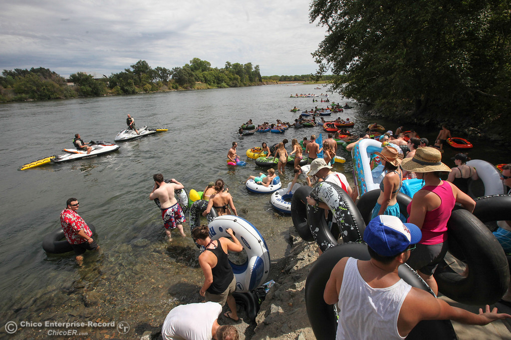. Floaters prepare to participate in the Labor Day weekend float of the  Sacramento River on Sunday, September 1, 2013. (Frank Rebelo/Staff Photo)