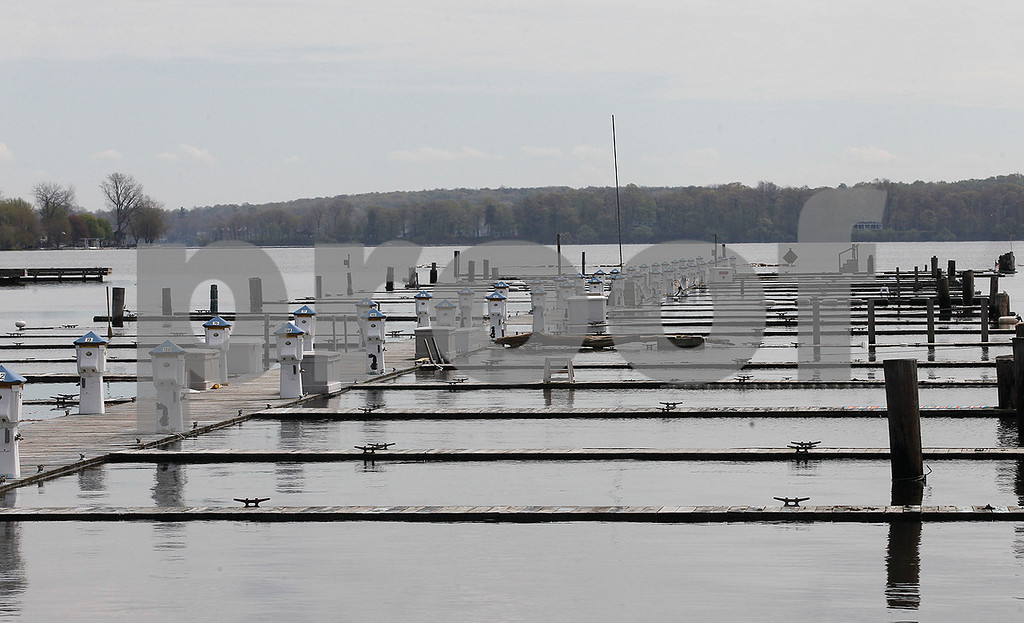 Spencer Tulis / Finger Lakes Times<br /> Sodus Point continues to have flooding issues as the area receives more rain and Lake Ontario isn't not receding in height. The level has reached the height of most docks.