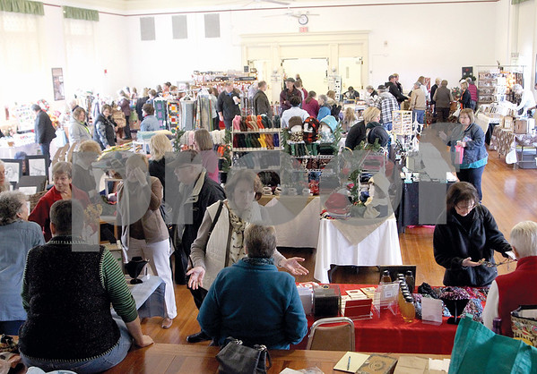 Spencer Tulis/Finger Lakes Times The 39th annual Craft and Book Sale was held Saturday at Jordan Hall at the NYS Agriculturral Experiment Station.