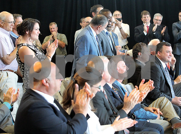 Spencer Tulis/Finger Lakes Times Geneva City Council members were asked to stand and be recognized.