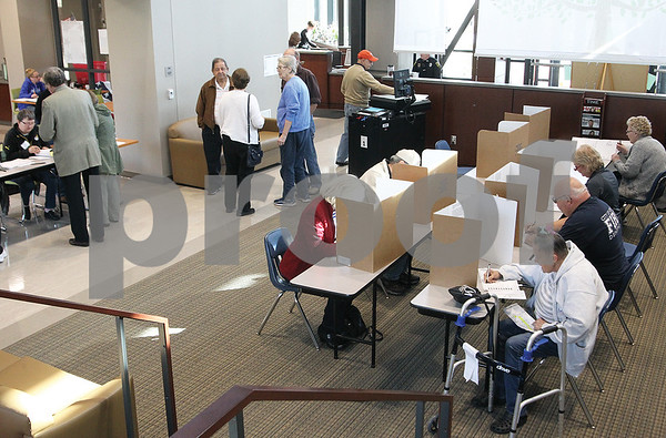 Spencer Tulis/Finger Lakes Times The main lobby of Finger Lakes Community College's Geneva campus served as a polling place for some Geneva voters Tuesday.