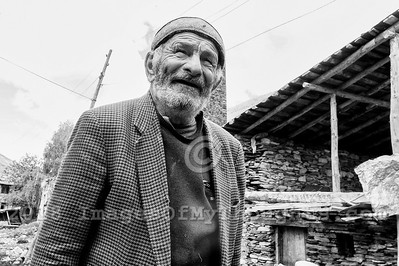 The village of Ushguli in Svaneti, Georgia, is part of a recognized UNESCO World Heritage Site.  Located at an altitude of 2,100 meters near the foot of Shkhara, one of the highest summits of the Greater Caucasus mountains, it is one of the highest continuously inhabited settlements in Europe.  Home to 70 families Ushguli is covered in snow for 6 months of the year and often the road to Mestia is impassable. Ushguli shares the Svaneti region traditional koshki, defensive stone structures built from the 9th century onward and is known for it's architectural treasures and picturesque landscapes.