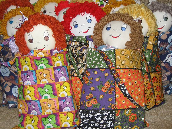 PHOTO PROVIDED Dolls that are made by volunteers at The Giving Doll in Wadsworth are hand-made with donated materials. Volunteers embroider eyes, noses and a mouth and sew hair on top of each doll's head.