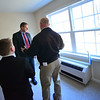 KRISTOPHER RADDER — BRATTLEBORO REFORMER<br /> New Hampshire Gov. Chris Sununu talks with Jack Franks, president and CEO of Avanru Development Group, while touring the Abenaki Springs Phase II Apartments, in Walpole, N.H., on Friday, Nov. 15, 2019.