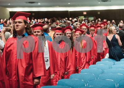 Graduates make their way through the auditorium during the Palmyra-Macedon High School Annual Commencement on June 17, 2016.Gabrielle Plucknette/Finger Lakes Times