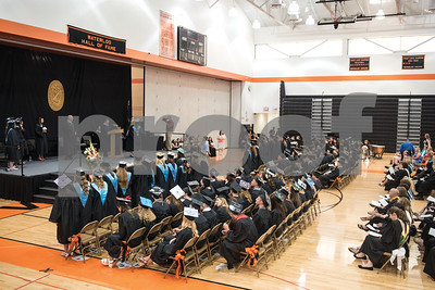 Graduates fill the gymnasium at Waterloo High School on Saturday for the Commencement Ceremony. Gabrielle Plucknette/Finger Lakes Times