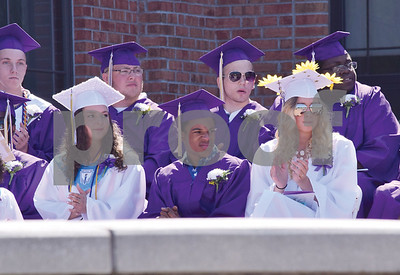 Class of 2016 students wait for the ceremony to get underway after the Procession.