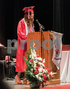 Erin Graham, gives the salutatory address during the Palmyra-Macedon High School Commencement on June 17, 2016. Gabrielle Plucknette/Finger Lakes Times