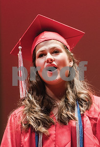 Graduate Samantha Clark sings a solo during the Pal-Mac High School Commencement at the Kodak Center for Performing Arts on June 17, 2016. Gabrielle Plucknette/Finger Lakes Times