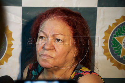 "Marlene de Oliveira Cavalcanti Silveira, 71 and her gang of drug dealers is presented to the media. Cavalcanti, known as the ""granny of blow"" was arrested for selling cocaine from her modest apartment in the beach district of Copacabana in Rio de Janeiro. About 60% of Copacaban residents are over 60 years old, making it one of the oldest neighborhoods in Brazil. (Australfoto/Alan Roberto Lima)"