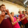 "KRISTOPHER RADDER - BRATTLEBORO REFORMER<br /> Hayden Avard, a 4th-grader at Dummerston Elementary School, plays a recorder during a rehearsal for ""River Child, Legends of the Great Rivers of the World,"" on Tuesday, May 8, 2018. The show is directed by Rita Corey. People can attend the show at 6:30 p.m. at the Dummerston Elementary School on Wednesday, May 8, 2018."