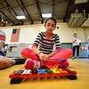 "KRISTOPHER RADDER - BRATTLEBORO REFORMER<br /> Lexi Short,  a 5th-grader at Dummerston Elementary School, plays ""When the Saints Come Marching In"" on the xylophone during a rehearsal for ""River Child, Legends of the Great Rivers of the World,"" on Tuesday, May 8, 2018. The show is directed by Rita Corey. People can attend the show at 6:30 p.m. at the Dummerston Elementary School on Wednesday, May 8, 2018."
