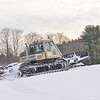 KRISTOPHER RADDER — BRATTLEBORO REFORMER<br /> Zack Rounds operates a snow groomer while shooting out the hill at Living Memorial Park on Thursday, Jan. 2, 2020.